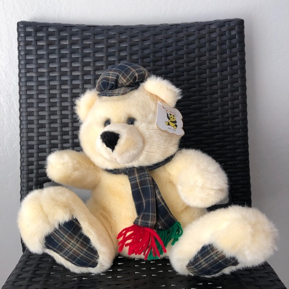 vintage 1992 joy toy teddy bear stuffed animal